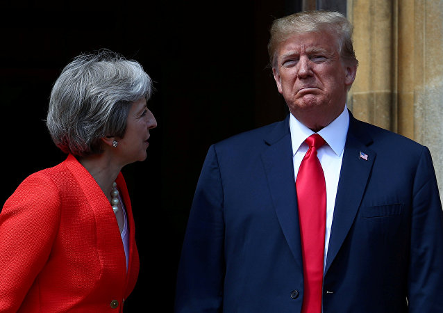 May ile Trump Chequers'de