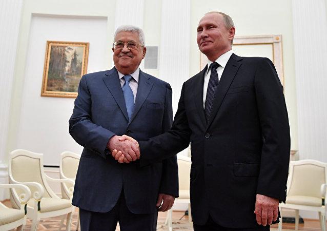 Rusya Devlet Başkanı Vladimir Putin-Filistin Devlet Başkanı Mahmud Abbas