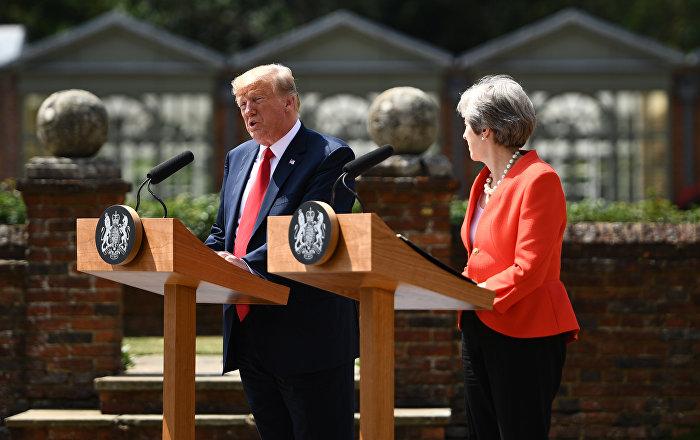 Trump'tan 'yalan haber' medyasına İngiltere'de de tepki: CNN'den soru almıyorum