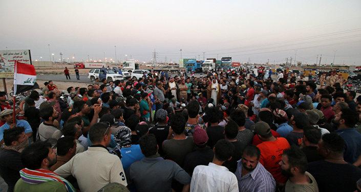 Irak'ın Basra kentinde protesto