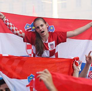 Hırvatistan'ın başkenti Zagreb'de Hırvat taraftarlar