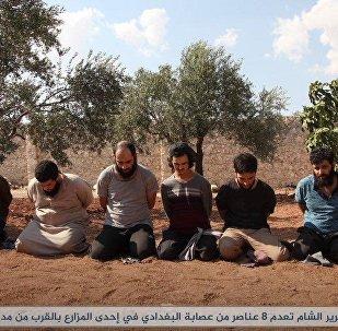 ÖSO tarafından kurşuna dizilen IŞİD üyeleri