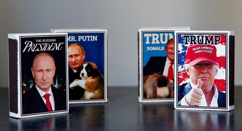 Helsinki'de Trump-Putin zirvesine özel kibrit paketleri piyasada