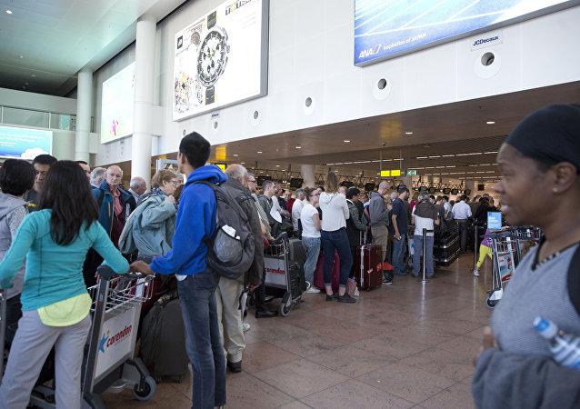 Belçika'nın başkenti Brüksel'deki Zaventem Havalimanı