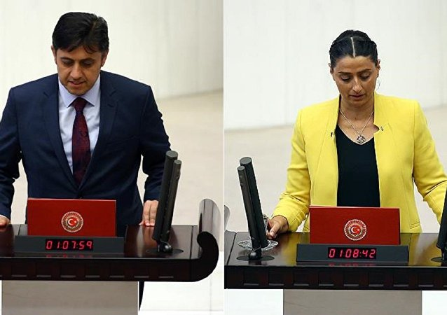 HDP Batman milletvekilleri Mehmet Rüştü Tiryaki ve Feleknas Uca