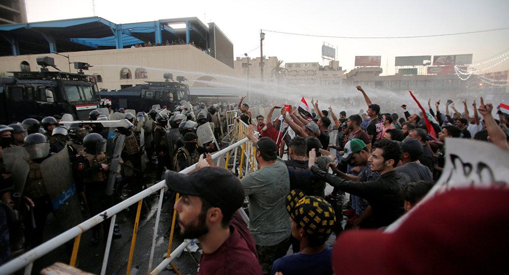 Irak'taki protestolara polis müdahalesi: 1 gösterici daha öldü