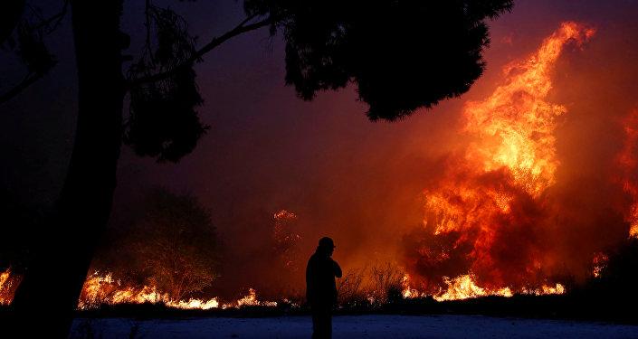 Yunanistan'da orman yangını: En az 1 ölü, Çipras yurtdışı gezisini yarıda kesti