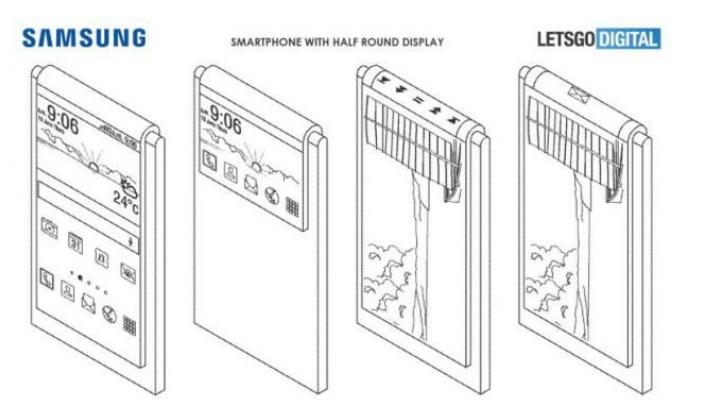 Samsung tarafından alınan, esnek ekranlı telefon patenti
