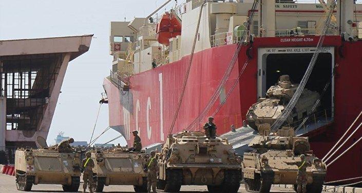 Noble Partner 2018 tatbikatına katılacak olan ABD'ye ait tank ve zırhlı araçların, Gürcistan'a nakli başladı.