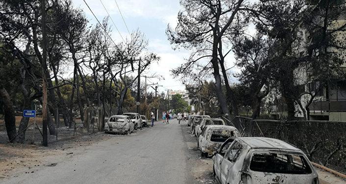 Yunanistan'daki yangın faciası