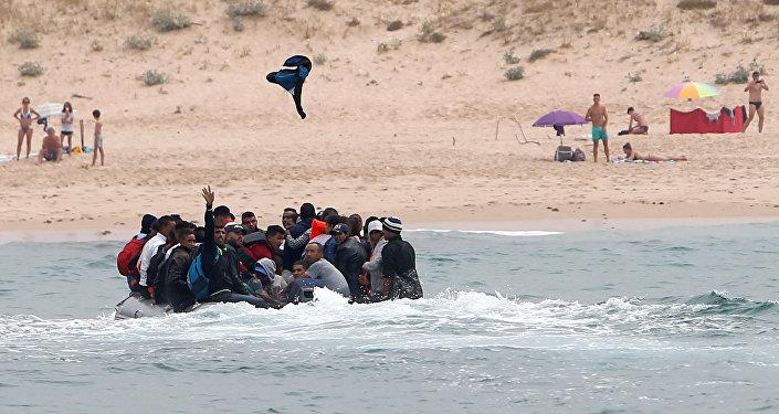 İspanya-Tarifa-Göçmenler