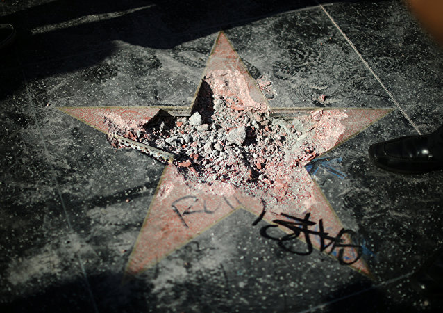 ABD Başkanı Donald Trump'ın Şöhretler Kaldırımı'ndaki yıldızı