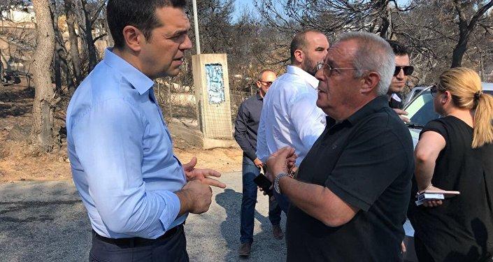 Yunanistan Başbakanı Çipras, yangın bölgesini ziyaret etti