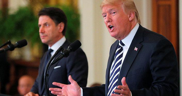 Beyaz Saray'da Trump-Conte ortak basın toplantısı