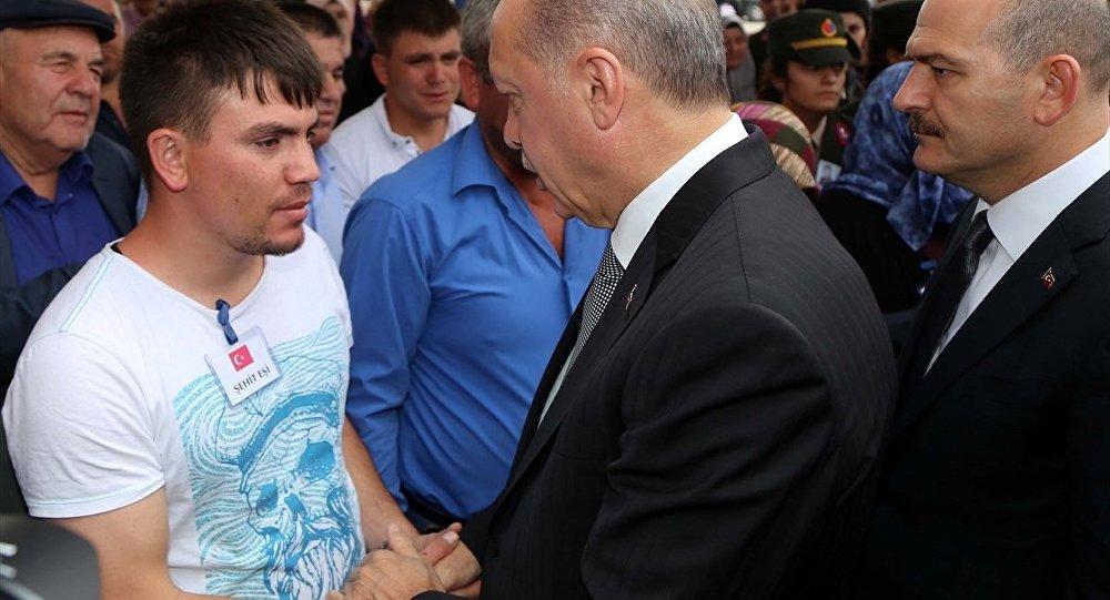 Erdoğan, Sivas, cenaze
