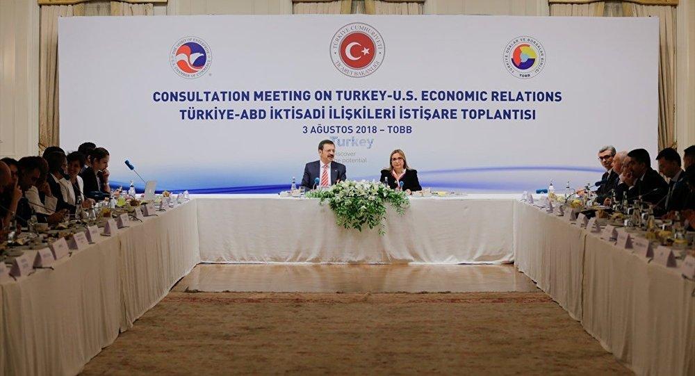 Türkiye-ABD İktisadi İlişkileri İstişare Toplantısı / Ruhsar Pekcan - Rıfat Hisarcıklıoğlu