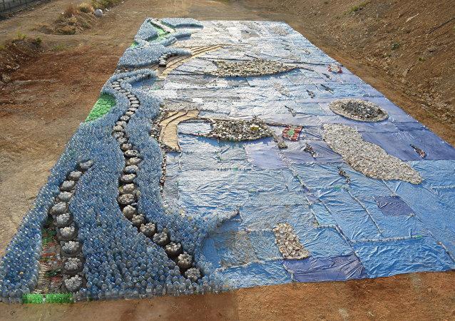Lübnan'daki atık mozaiği Guinness Rekorlar Kitabı'na girdi