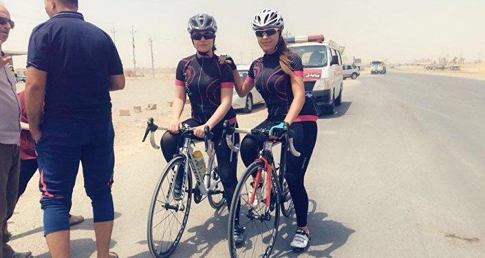 Irak'taki bisiklet yarışmaları: Kürt kadın sporcuların performansı göz doldurdu