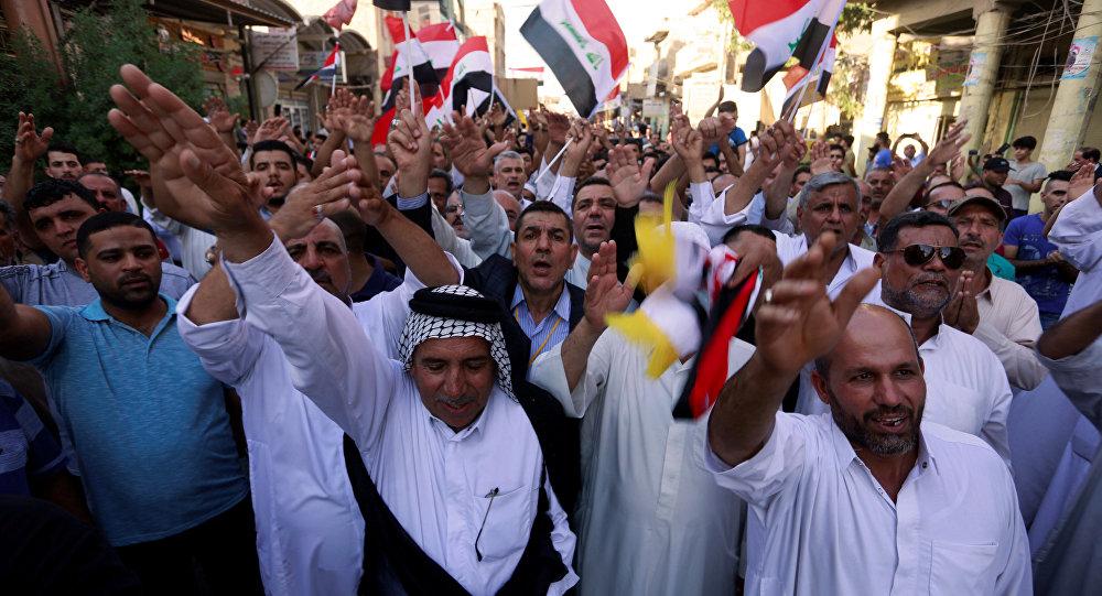 Iraklılar 'Kahrolsun Amerika' dedi Barzani ABD ile ortak çalışmalara başladı