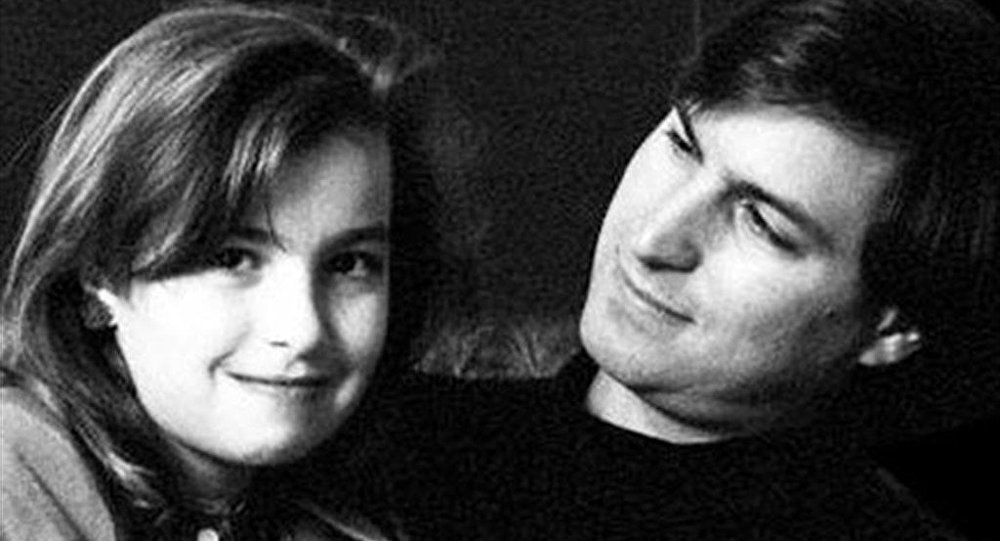 Steve Jobs ve kızı Brennan Jobs