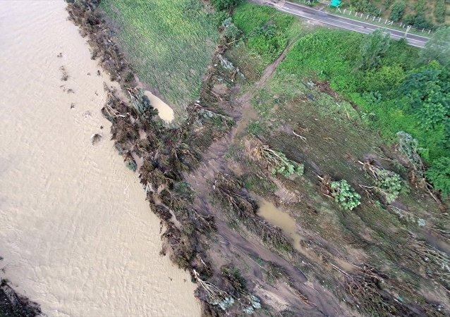 Ordu'daki sel felaketi havadan görüntülendi