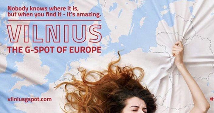 'Avrupa'nın G noktası Vilnius' reklamının posteri