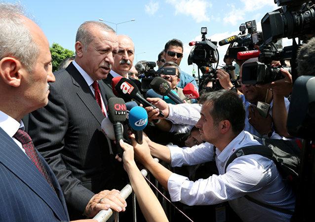 Recep Tayyip Erdoğan 11 Ağustos 2018'de Karadeniz turunda