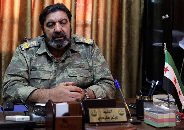 'Suriye Ulusal Ordusu'nun başındaki Albay Haitham Afisi