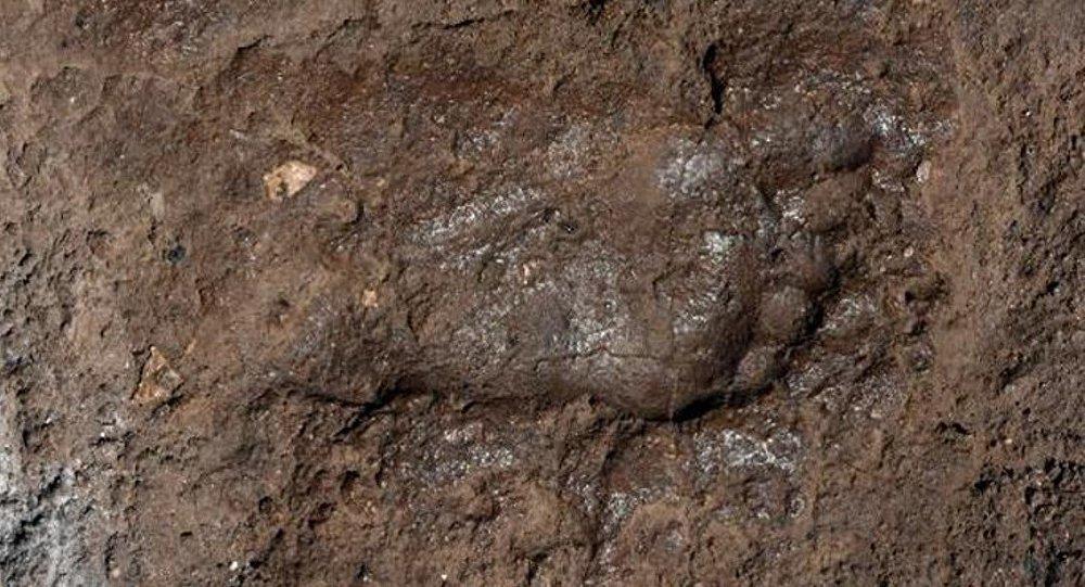 Urartulu bir çocuğa ait olduğu düşünülen ayak izi