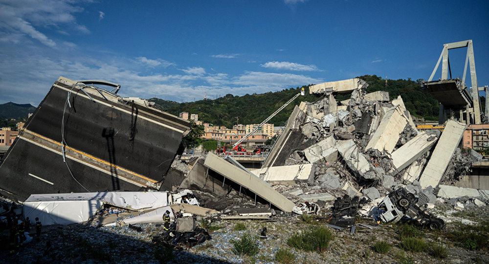 Cenova'daki Morandi köprüsündeki çökme