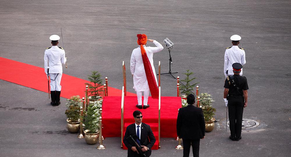 Hindistan Başbakanı Narendra Modi başkent Yeni Delhi'deki Kızıl Kale'de yapılan Bağımsızlık Günü kutlamalarında konuştu