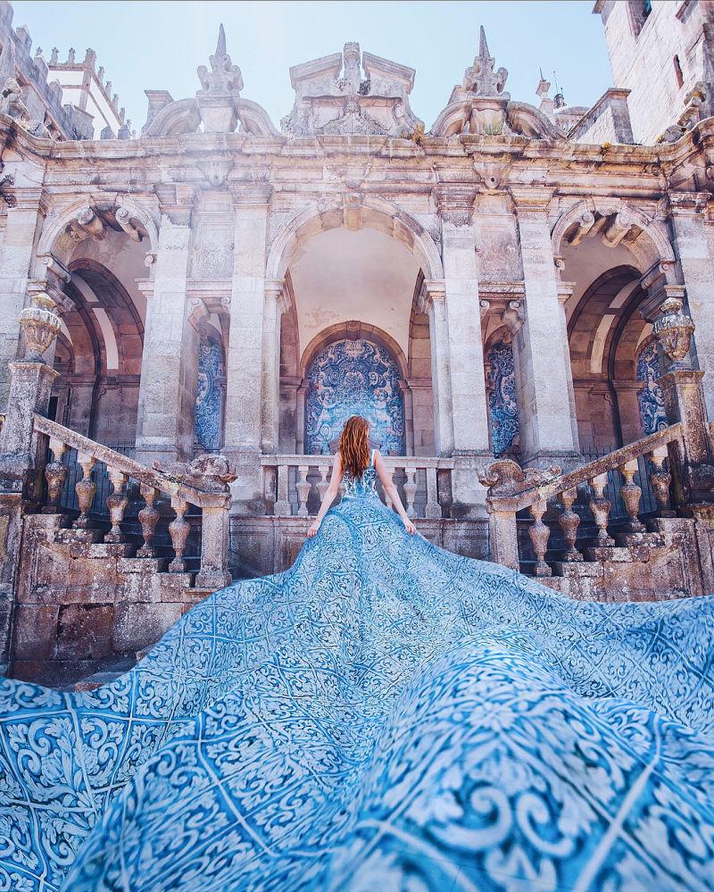 Elbiseli kadın' fotoğraf serisi