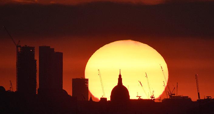 Londra günbatımı