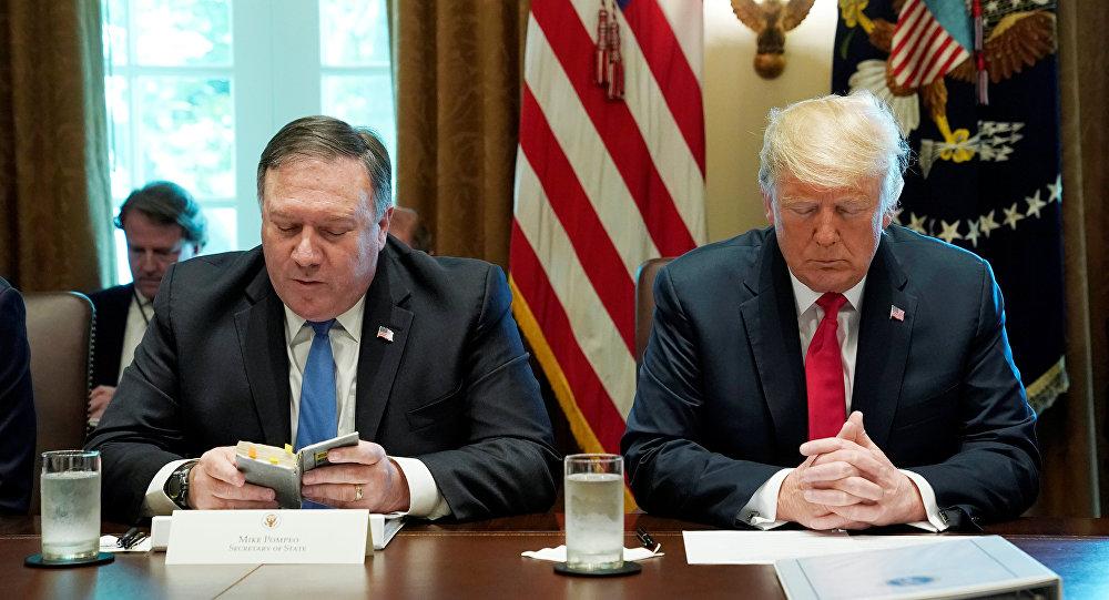 ABD Başkanı Donald Trump'ın başkanlığındaki kabine toplantısı, Dışişleri Bakanı Mike Pompeo'nun ettiği dua ile başladı
