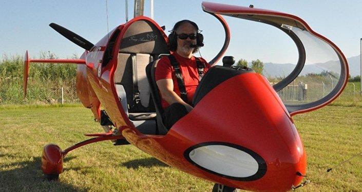 Denizlili girişimciden gyrocopter ile hava taksi taşımacılığı