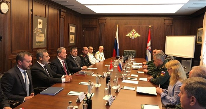 Milli Savunma Bakanı Hulusi Akar- MİT Başkanı Hakan Fidan- Rusya Savunma Bakanı Sergey Şoygu