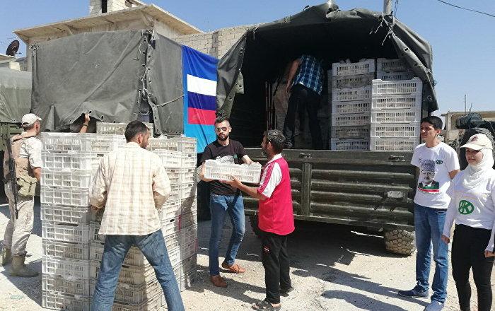 Rusya Haleplilere yardım ediyor