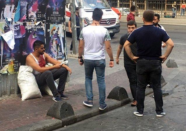 İstanbul'da turistler arasında kavga çıktı