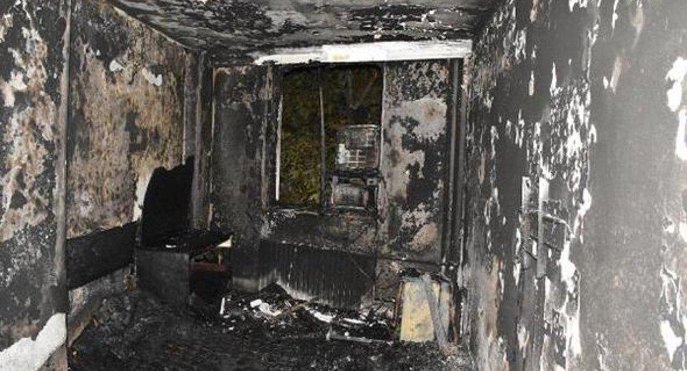 Yapıştırıcı kokladığı iddia edilen asker, oteli yaktı