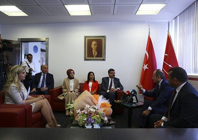 AK Parti heyeti, CHP ziyareti