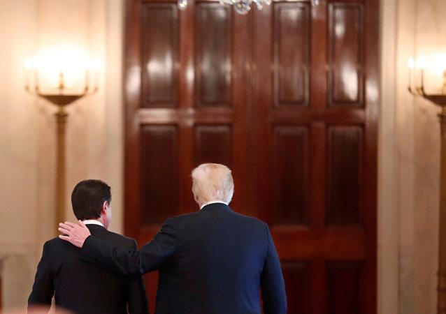 İtalya Başbakanı Guiseppe Conte- ABD Başkanı Donald Trump