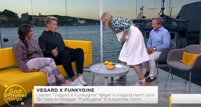 Norveçli TV sunucusu, konuğunun üstüne kustu