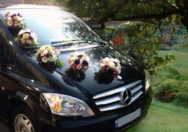 Mercedes Vito düğün arabası