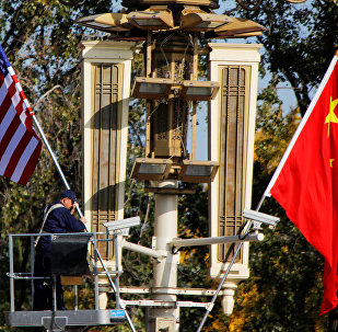 ABD-Çin bayrakları