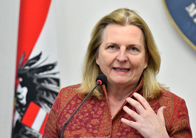 Außenministerin Österreichs Karin Kneissl