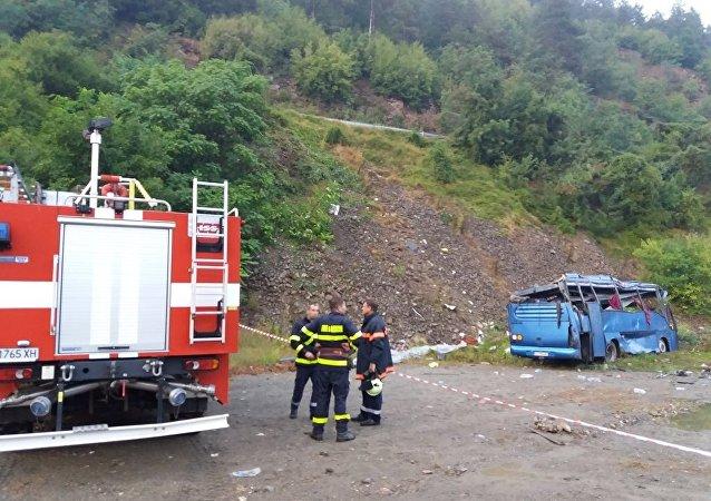 Bulgaristan'da 17 kişinin öldüğü trafik kazası