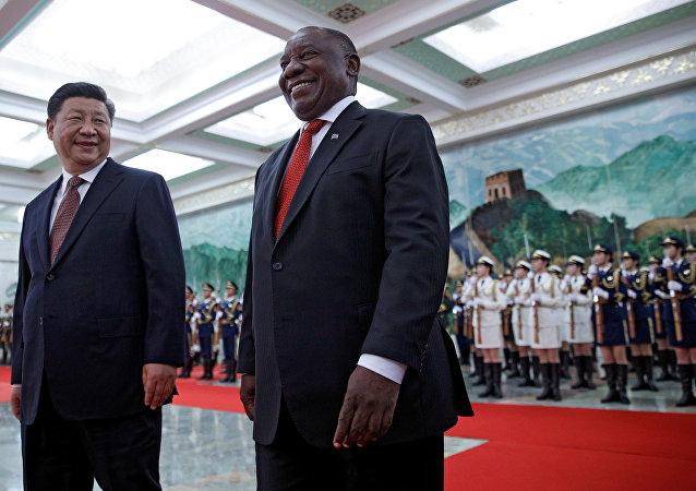 Şi Cinping ve Cyril Ramaphosa