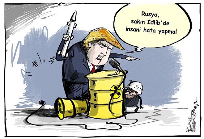 Trump: Rusya ve İran, İdlibde insani hata yapabilir