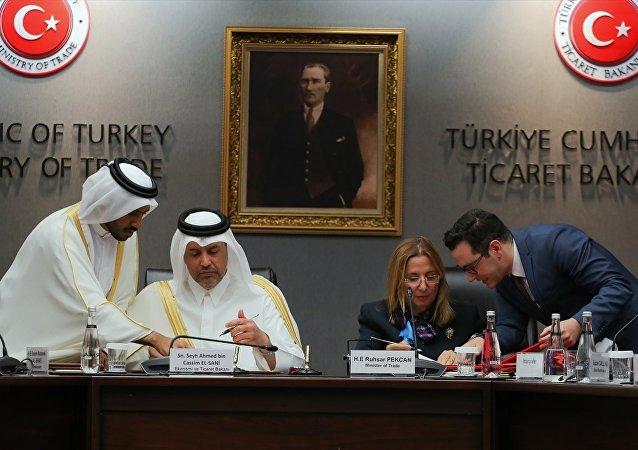 Türkiye-Katar Ticaret ve Ekonomik Ortaklık Anlaşması imza