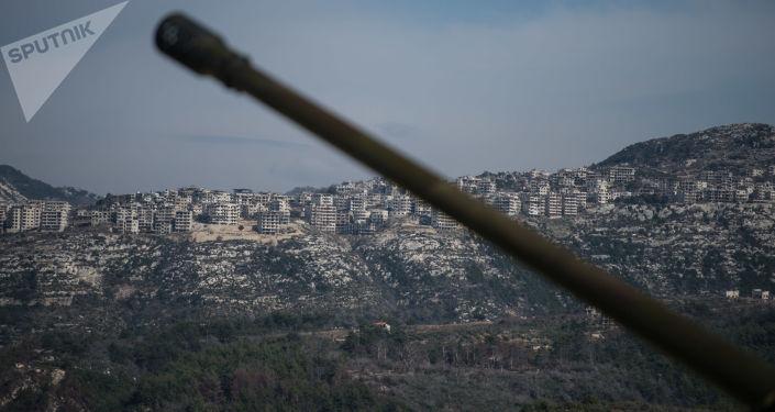 İdlib'de Suriye ordusuna ait bir top